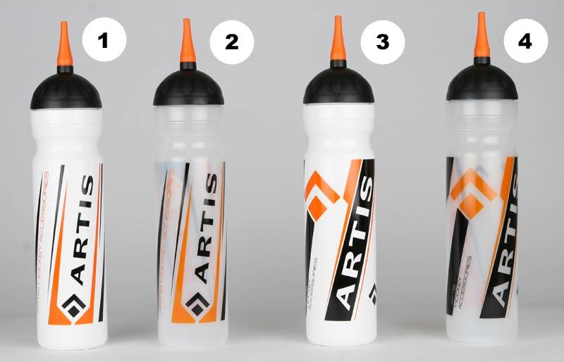 Hokejová lahev ARTIS 1,0 l 1 bílá