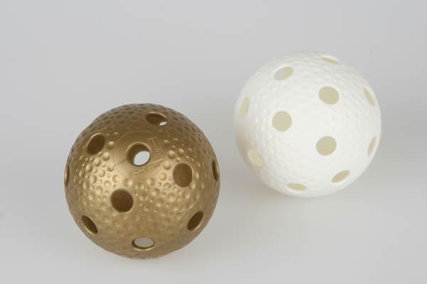 Florbalový míč Unihoc CRATER bílá