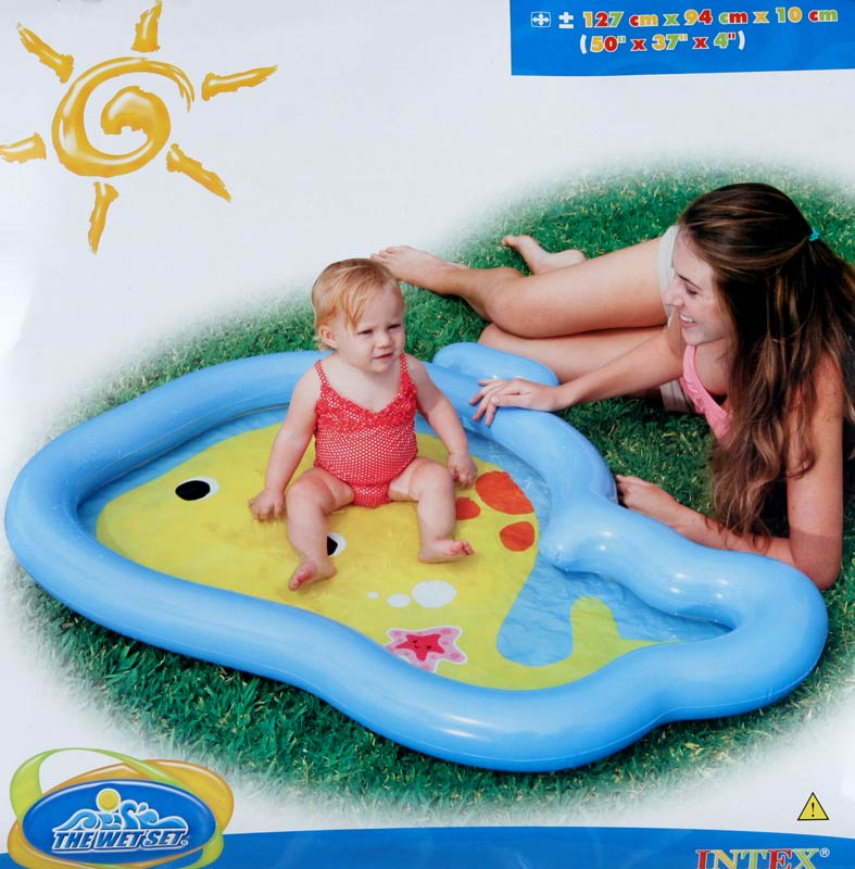 Nafukovací bazén Intex - velryba 127 x 94 x 10 cm