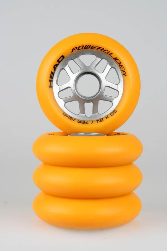 Kolečka HEAD 90 - 4 ks - žlutá