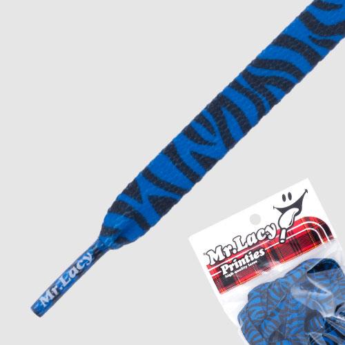 Mr.Lacy Printies - Zebra modrá